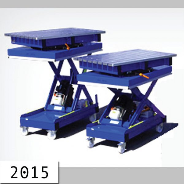 2001.4 - Lifting tables + round tables 5 t , 10 t